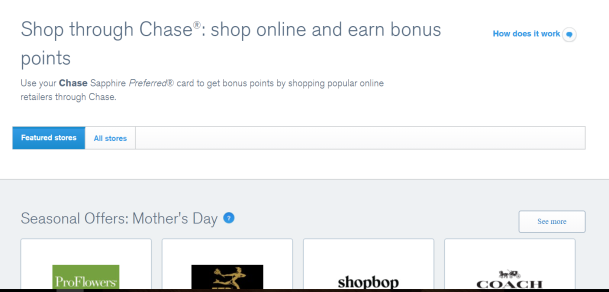 shop through chase stores